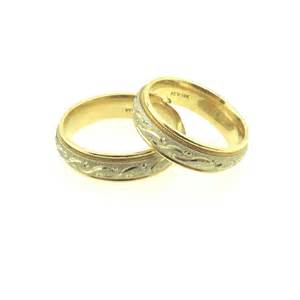his wedding rings two tone fancy center his and wedding rings wedding