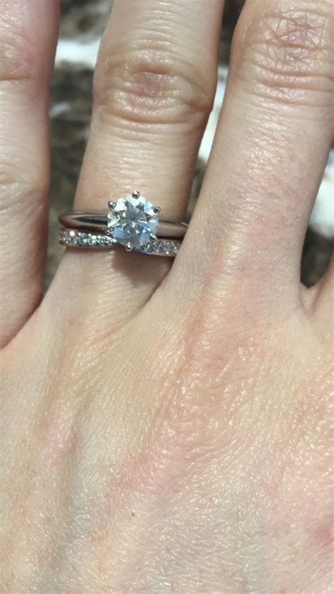 s knife edge engagement ring with s harmony wedding band can t wait to