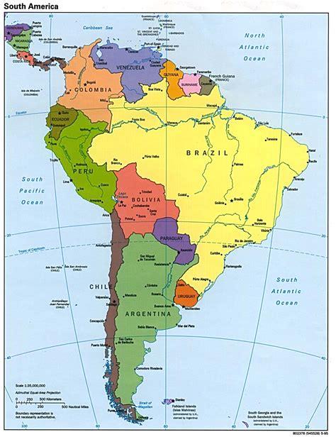 political map  south america  printable maps