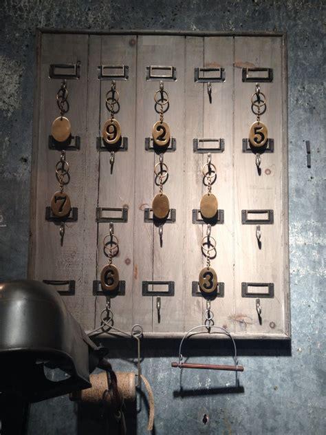 reclaimed wood hotel  hook large key rack holder wall