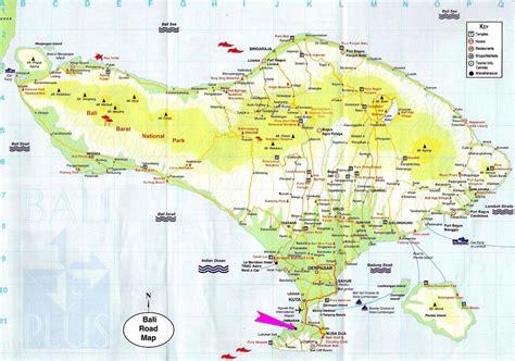 bali tourist map bali mappery