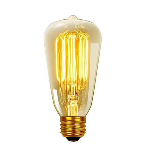 globe electric 40 watt incandescent s60 e26 vintage edison