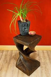 Beistelltisch Für Küche : beistelltisch massivholz holz wohnzimmertisch 50x28cm braun kolonial afrika neu ebay ~ Indierocktalk.com Haus und Dekorationen