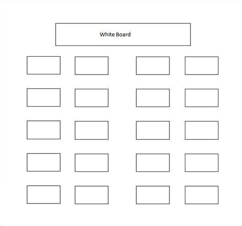 table seating chart template classroom seating chart template 16 exles in pdf word excel free premium templates