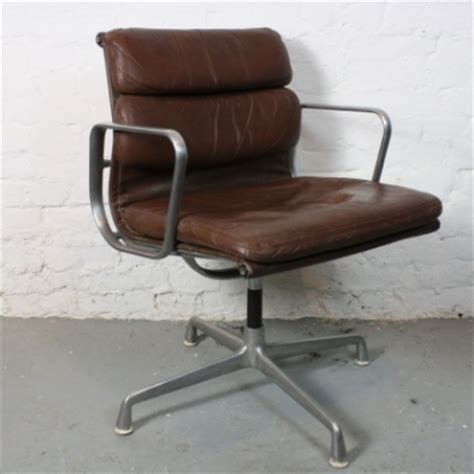eames herman miller brown leather soft pad chair
