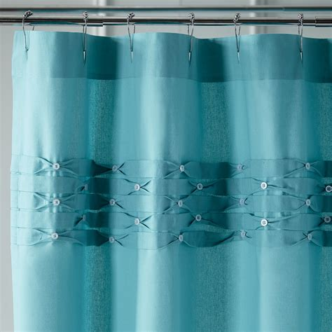 turquoise shower curtain turquoise pintuck shower curtain everything turquoise