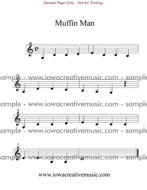 Use features like bookmarks, note taking and highlighting while reading clarinet sheet music with lettered noteheads book 1: Free Clarinet Sheet Music - Muffin Man
