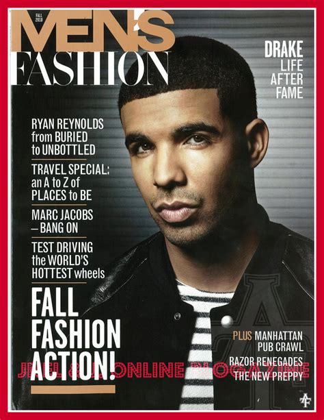 All On The Cover Drake Covers Men's Fashion Magazine Plus