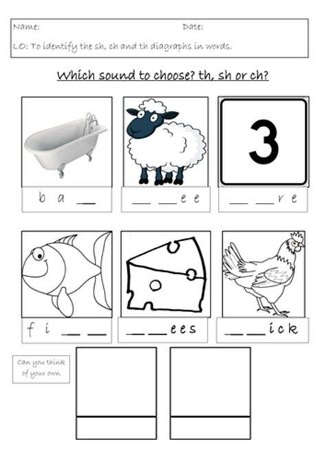 sh ch and th worksheet by marieudall teaching resources