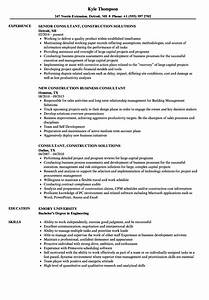 construction consultant resume samples velvet jobs With resume builder consultant