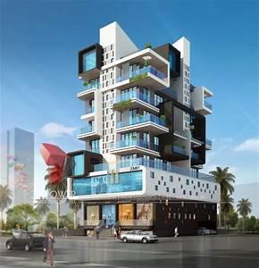 Apartment, Elevation, Designing
