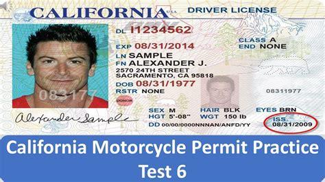 California Motorcycle Permit Practice Test 6 Youtube