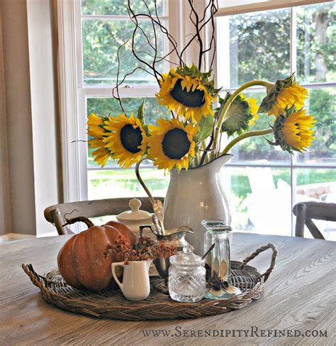 centerpiece ideas for kitchen table serendipity refined inside the farmhouse fall