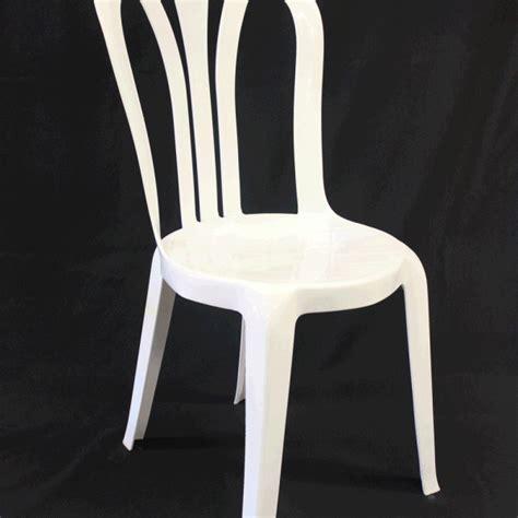 plastic white bistro chair events