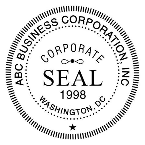 corporate seal template corporate seal st template for pdf bwpriority