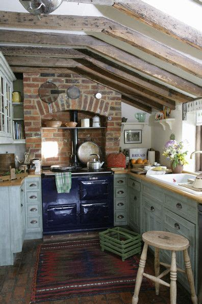 cozy kitchen love  blue  fashioned stove nested