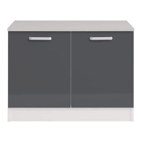 meuble bas de cuisine 120 cm meuble bas 2 portes 120 cm quot shiny quot gris