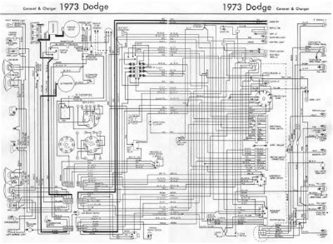 65 Dodge Dart Wiring Diagram by Dodge Coronet And Charger 1973 Complete Wiring Diagram