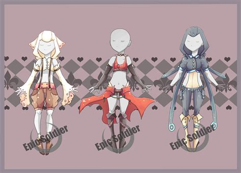 adoptables 6 closed by epic soldier on deviantart costume adoptables 3 closed by epic soldier on deviantart Costume