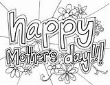 Coloring Pages Mothers Mother Printable Card sketch template