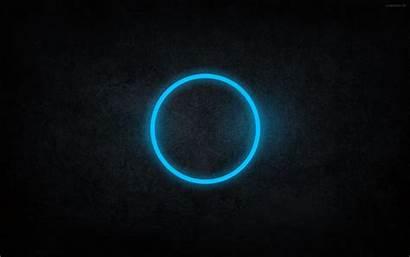 Cyan Abstract Neon Dark Rings Circles Wallpapers