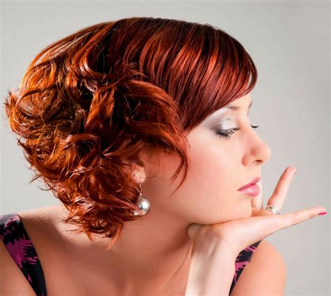 frisuren rote haare freche frisur f 252 r kurze rote haare mit locken rote haare