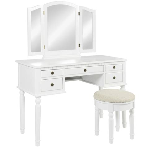 Bench For Vanity by Bcp Wooden Makeup Jewelry Vanity Set Table With Mirror And