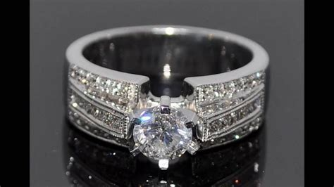 best wide band diamond wedding and engagement rings youtube