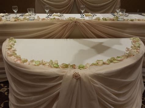 Table Draping - table draping with spot lights set the mood decor