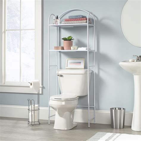 White Bathroom Etagere by Homevisions White Etagere 425059 The Home Depot