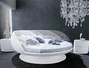 Lit Rond But : lit rond motoris moon bed laqu blanc ~ Teatrodelosmanantiales.com Idées de Décoration