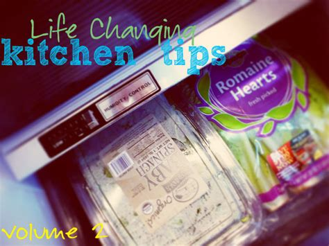 Life Changing Kitchen Tips