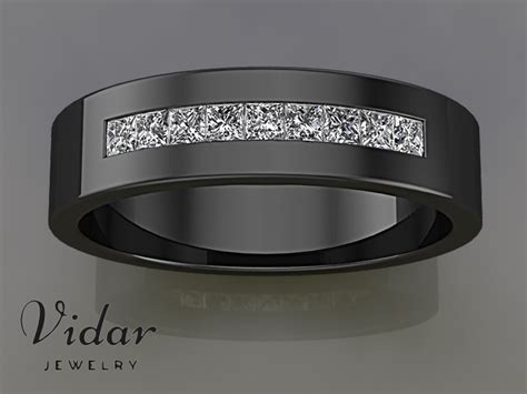 Black Gold Princess Cut Unique Mens Wedding Band Silverware Into Jewelry Michael Kors Turquoise Wholesale Tennessee Collection Antique Portland Or Appraisal Calgary Des Moines Imitation