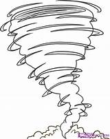 Tornado Coloring Pages Draw Step sketch template