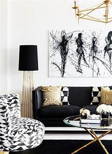 83+ Decor 101 Black White And Gold Living Room With Tribal ...