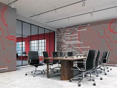 Circuit Board Office Interior Grenadine Setting Shown