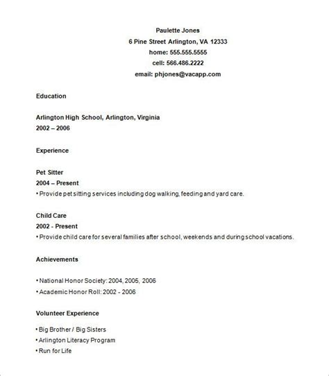 high school students  resume format student