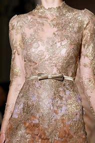 Valentino Lace Dress Gold