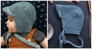 vintage baby bonnet with visor knitting free pattern