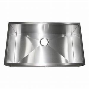 32 inch stainless steel flat front farm apron single bowl With 32 inch apron sink