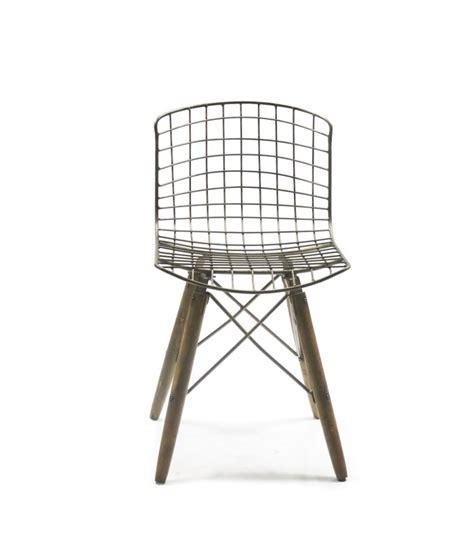 chaise en bois design chaise design fil de fer et pieds en bois wadiga com
