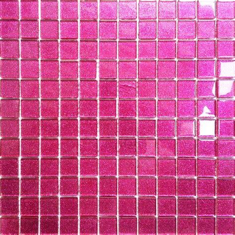 glitter pink glass feature walls bathroom shower mosaic