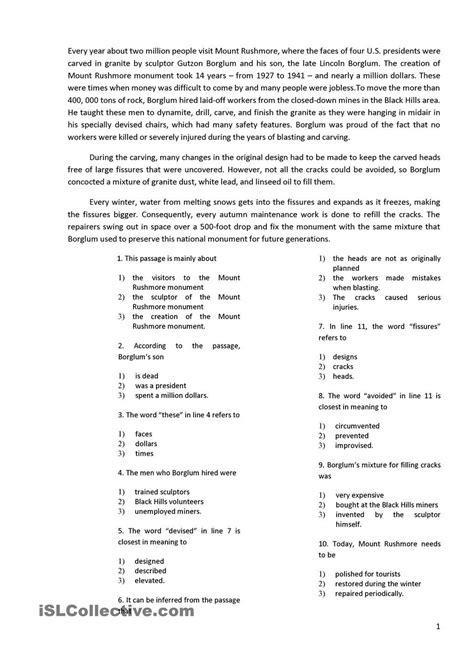 worksheet reading comprehension worksheets high school
