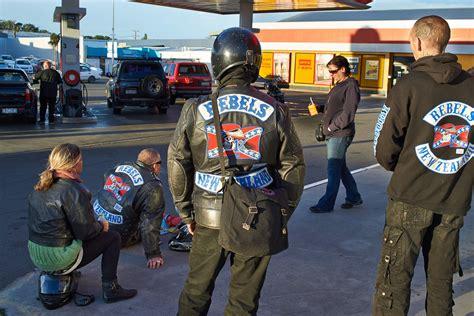 rebels outlaw motorcycle gang members charged