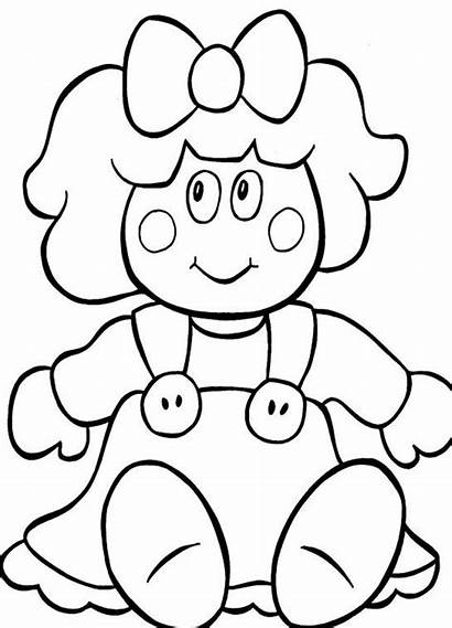 Doll Coloring Pages Printable Christmas Dolls Drawing