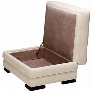 Poire Pouf Pas Cher : pouf coffre en cuir vachette les poufs pas cher mobilier ~ Melissatoandfro.com Idées de Décoration