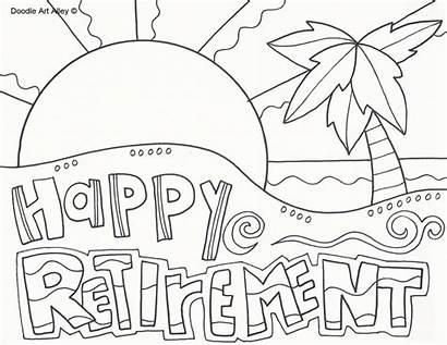 Retirement Coloring Pages Printable Doodle Happy Printables