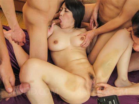 Sasha Short Haired Surrounded By Cocks Mff