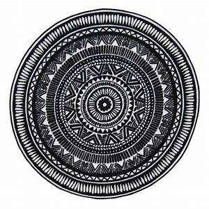 Tapis Rond Noir Et Blanc : tapis rond noir achat vente tapis rond noir pas cher ~ Dailycaller-alerts.com Idées de Décoration