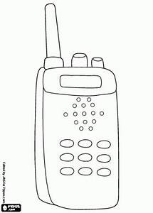 walkie talkie a communication system coloring page for With two way radio
